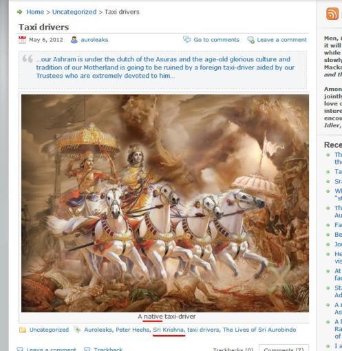 Demeaning Sri Krishna